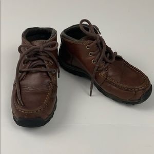 Kids Timberland Leather Boots Lace Up